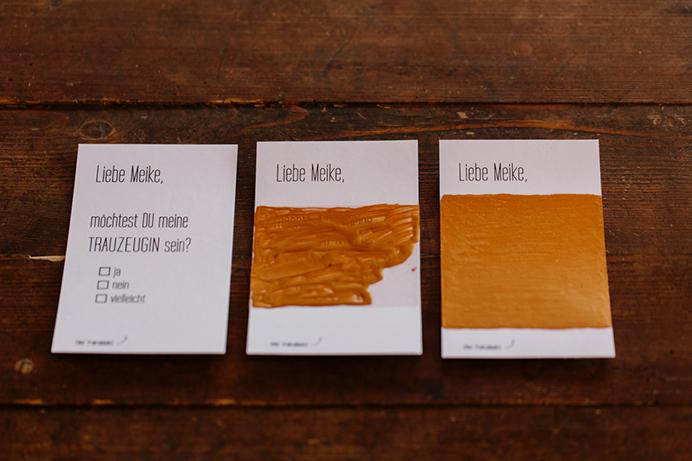 DIY-Rubbelkarte: die drei Stufen der Herstellung