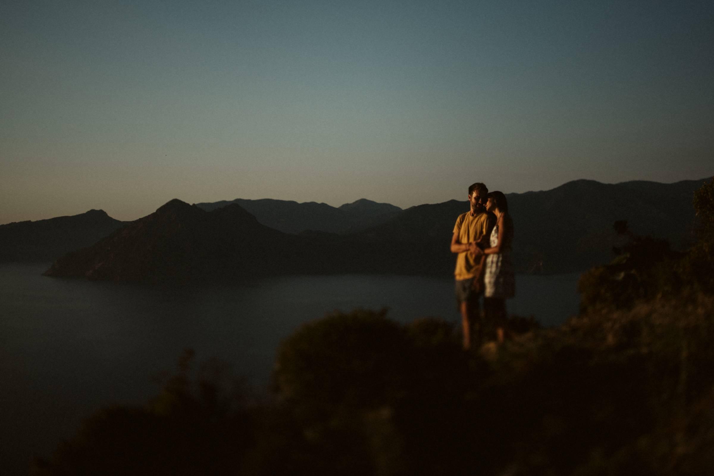 Liebespaar auf Korsika