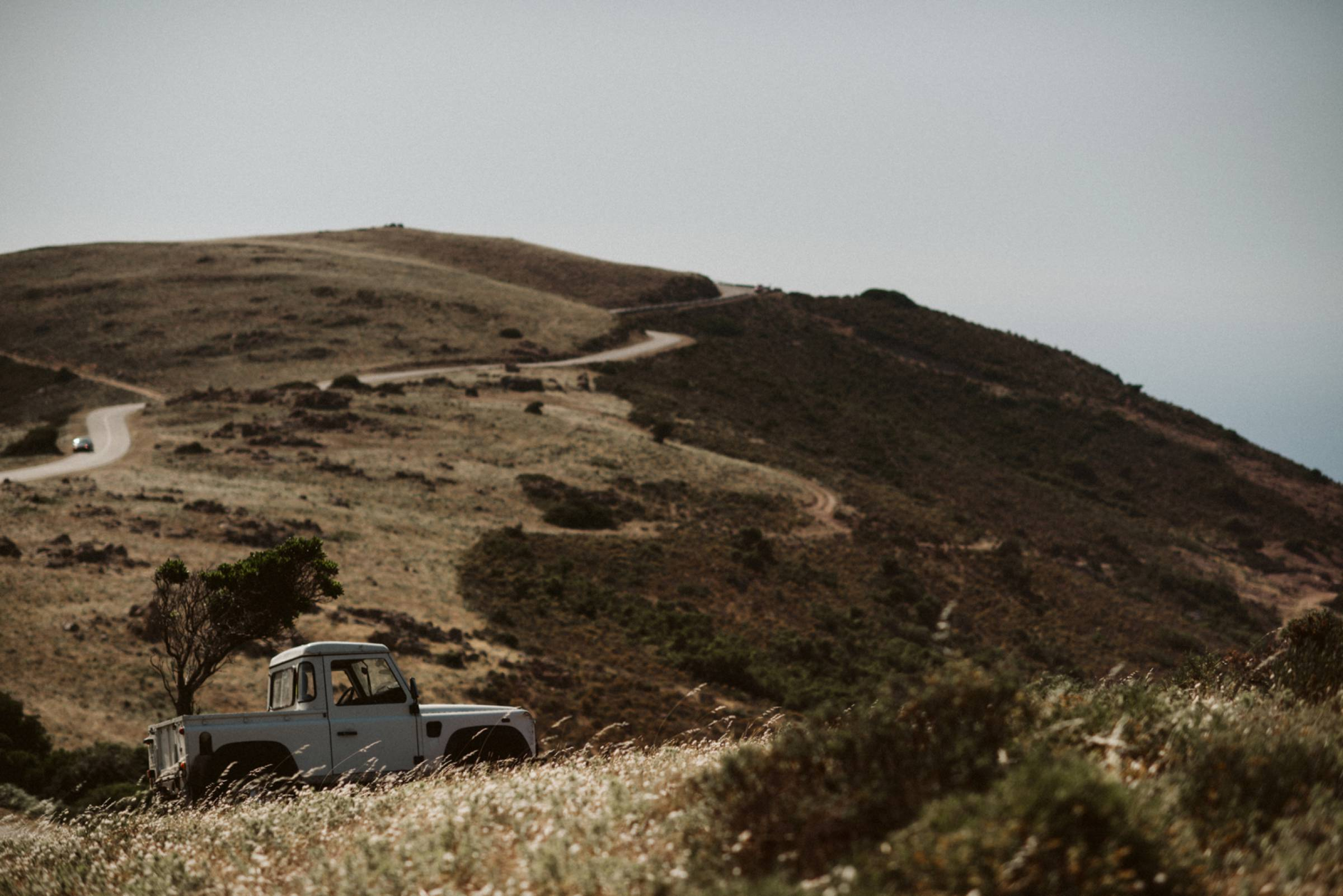 Pickup in den Bergen von Korsika