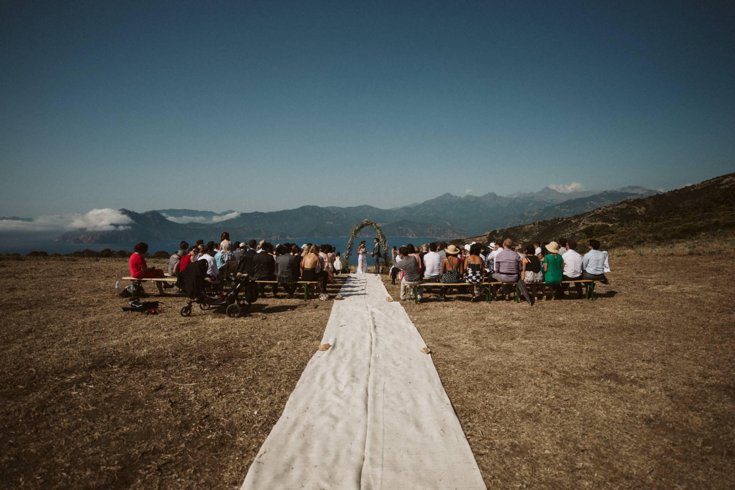 Hochzeitszeromonie in der Insel Korsika
