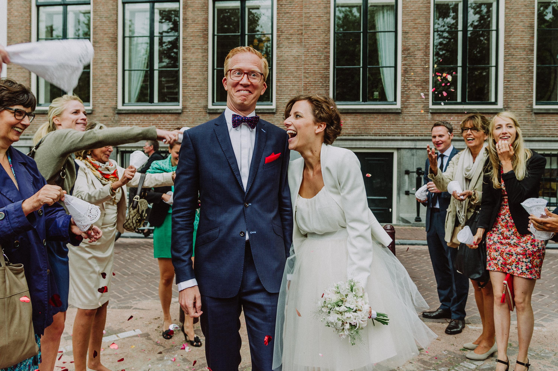 Konfettibombe-Hochzeit
