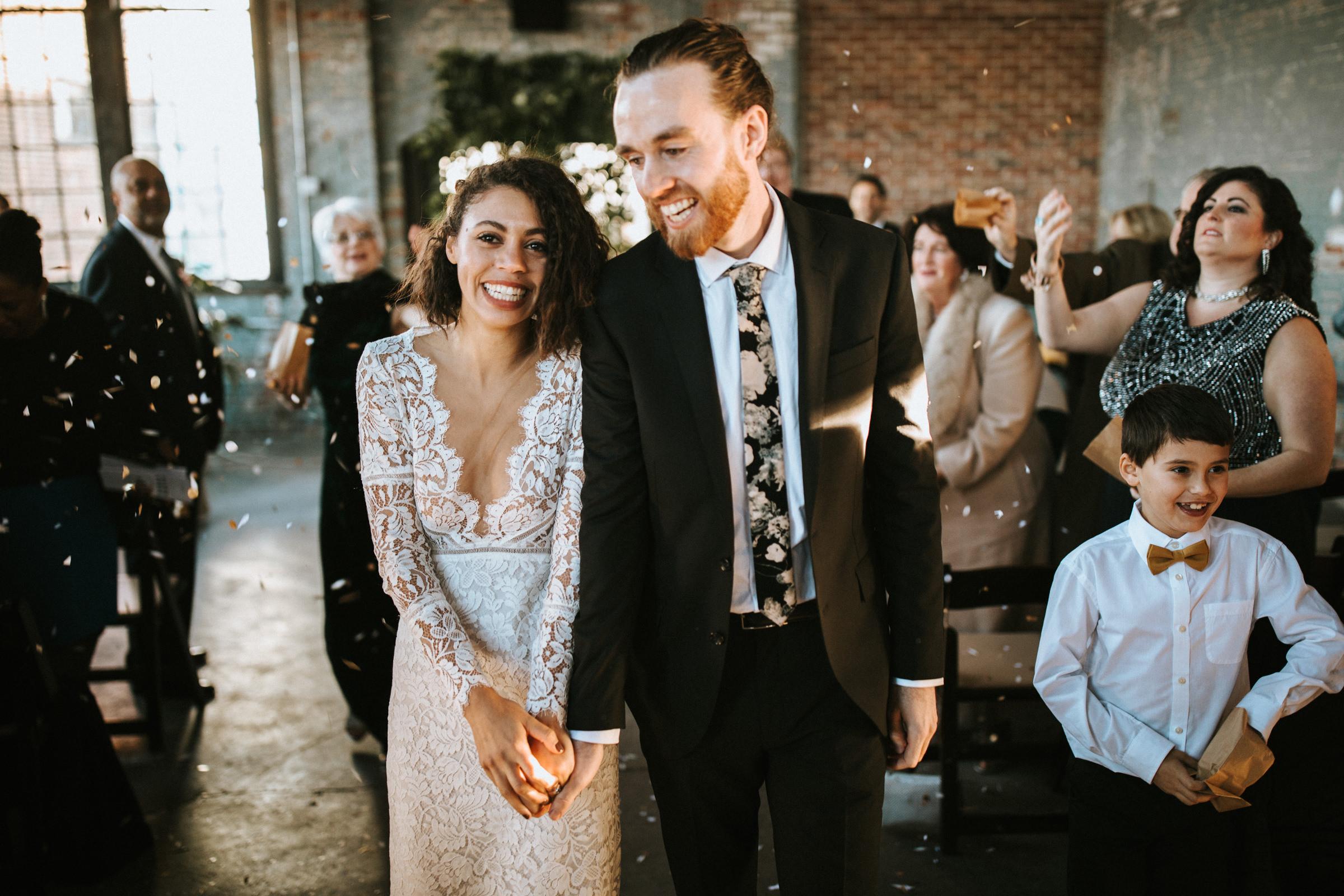 Hochzeit in New York - strahlendes Brautpaar