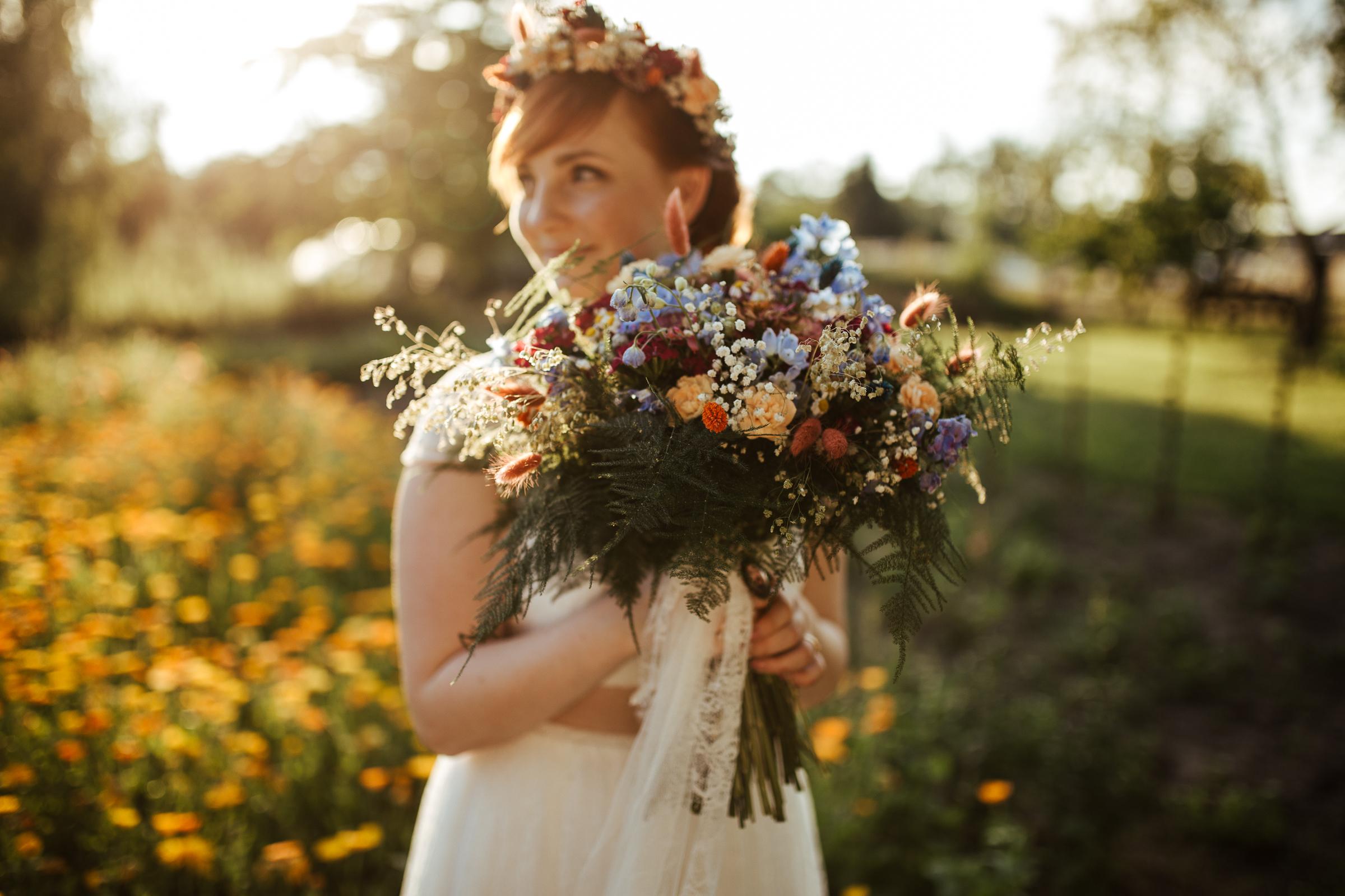 Blumenschmuck von Kopflegenden: Brautstrauß